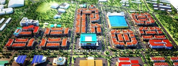 Location of Metro City. Image from Borneo Post