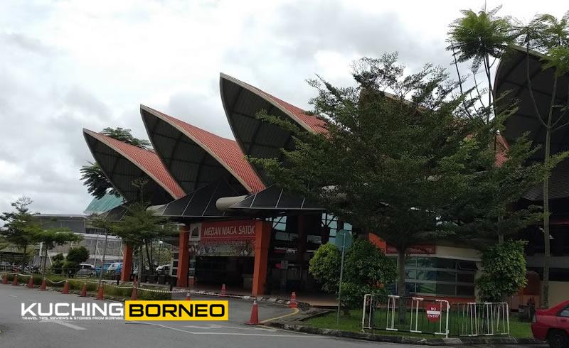 Medan Niaga Satok is the front of the Satok Weekend Market