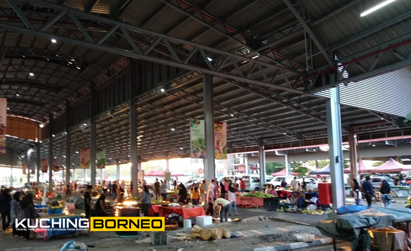 The area where the Satok Sunday Market is housed