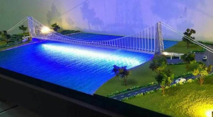 Reconstructed Satok Suspension Bridge
