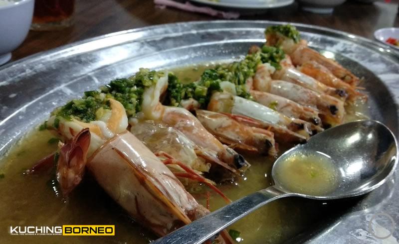 Muara Tebas Seafood Steamed Prawn