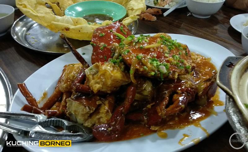 Muara Tebas Seafood sweet sour crab