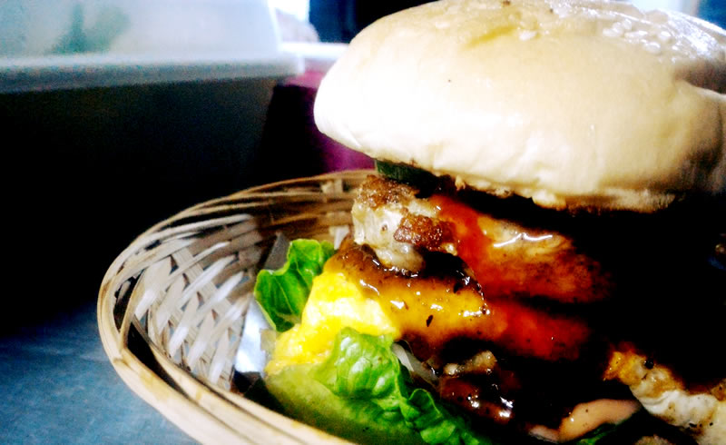 One of Goi's Pork Burger. Photo: Goi's Pork Burger