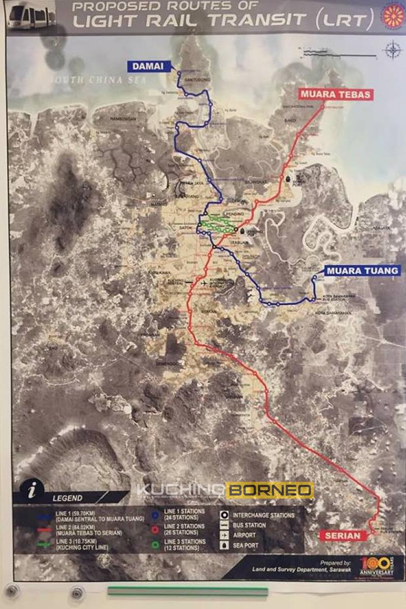 Kuching LRT Route