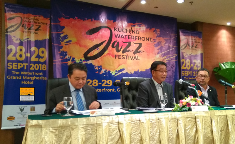 KUCHING - The Kuching Waterfront Jazz Festival (KWJF) will return again this year after being a huge success last year. The event is scheduled on from Sept 28 - 29, at the Waterfront, Grand Margherita Hotel Kuching.