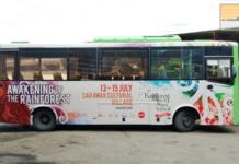 shuttle bus service to the Rainforest World Music Festival 2018