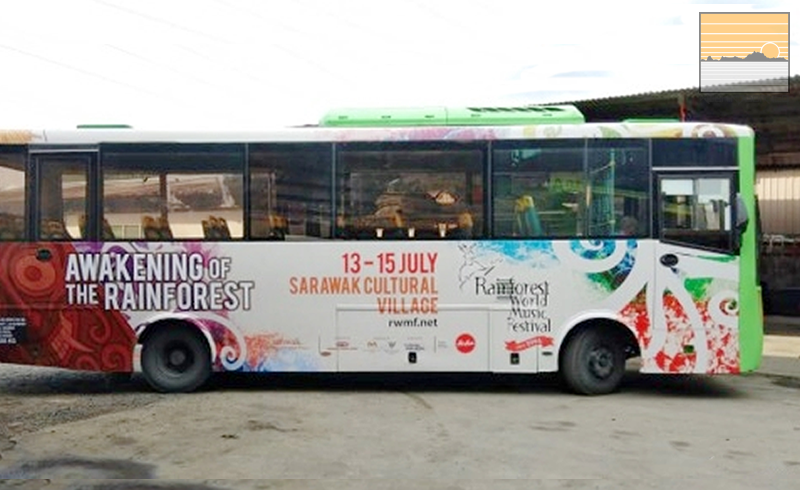 shuttle bus service to the Rainforest World Music Festival 2018
