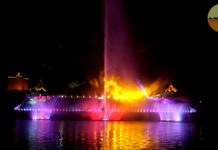 Kuching Waterfront Darul Hana Musical Fountain